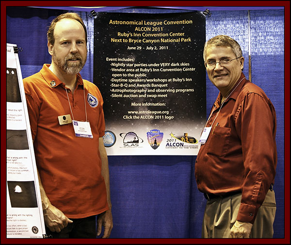 John Goss & Carroll Iorg of the Astronomical League - NEAF 2011...