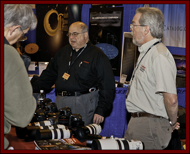 Mike Shears and Fred Metzler at the Canon Booth - NEAF 2011