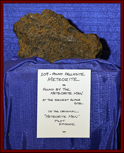 Meteorite on Display, Meteorite Men Booth - NEAF 2011