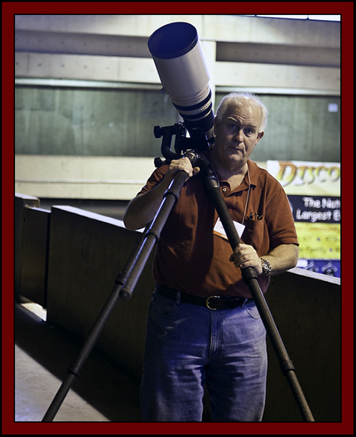 Kiro on the Mezzanine with the 600mm Lens - NEAF 2011