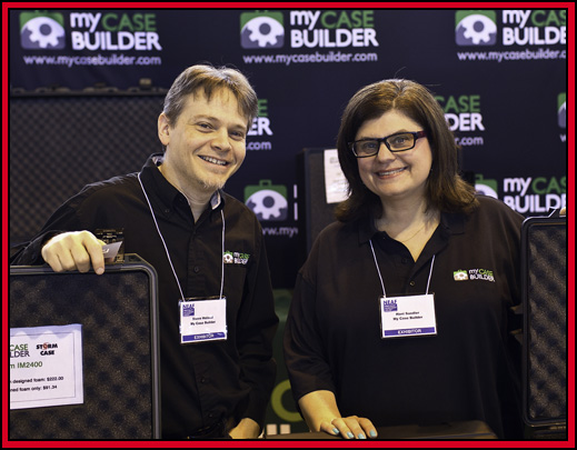 Steve Holland & Hani Sandler of My Case Builder - NEAF 2015