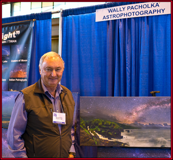 Wally Pacholka at his Display - NEAF 2015