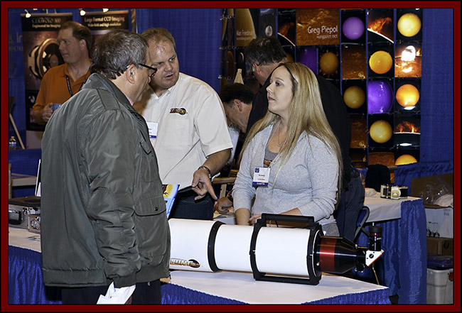 Rikki Hocking and Brian Stephens in the Lunt Solar Systems Booth - NSSP 2011..