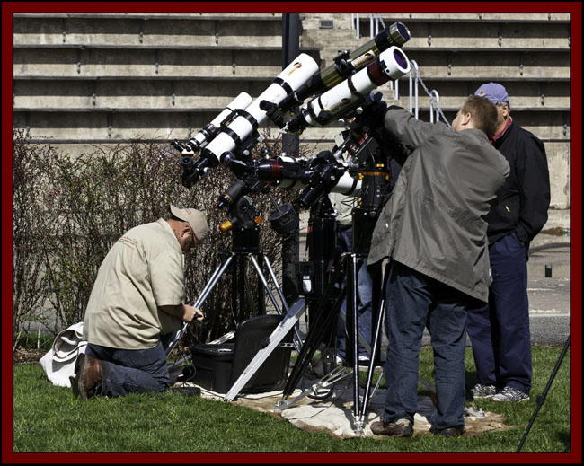 Preparing Solar Telescopes in the Courtyard - NSSP 2011...