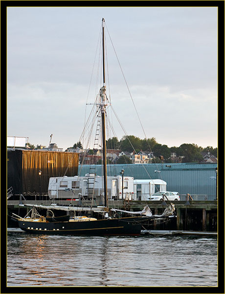 Schooner in berth
