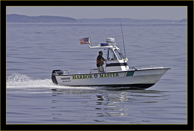 Harbor Master heading to the fire scene