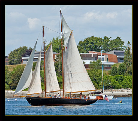 Schooner close in