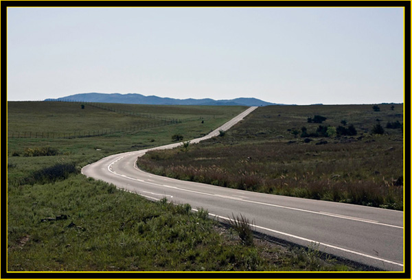 Roadway Through the Wichita Mountains Wildlife Refuge