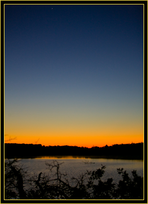 Venus Rising over French Lake in Dawn Light - Wichita Mountains Wildlife Refuge