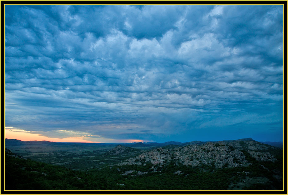 Cloud Formation from Mount Scott - Wichita Mountains Wildlife Refuge