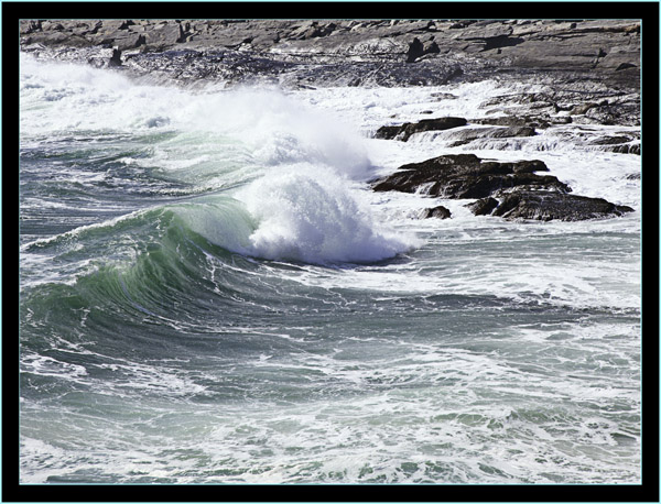 Incoming Waves - Pemaquid Point - Bristol, Maine