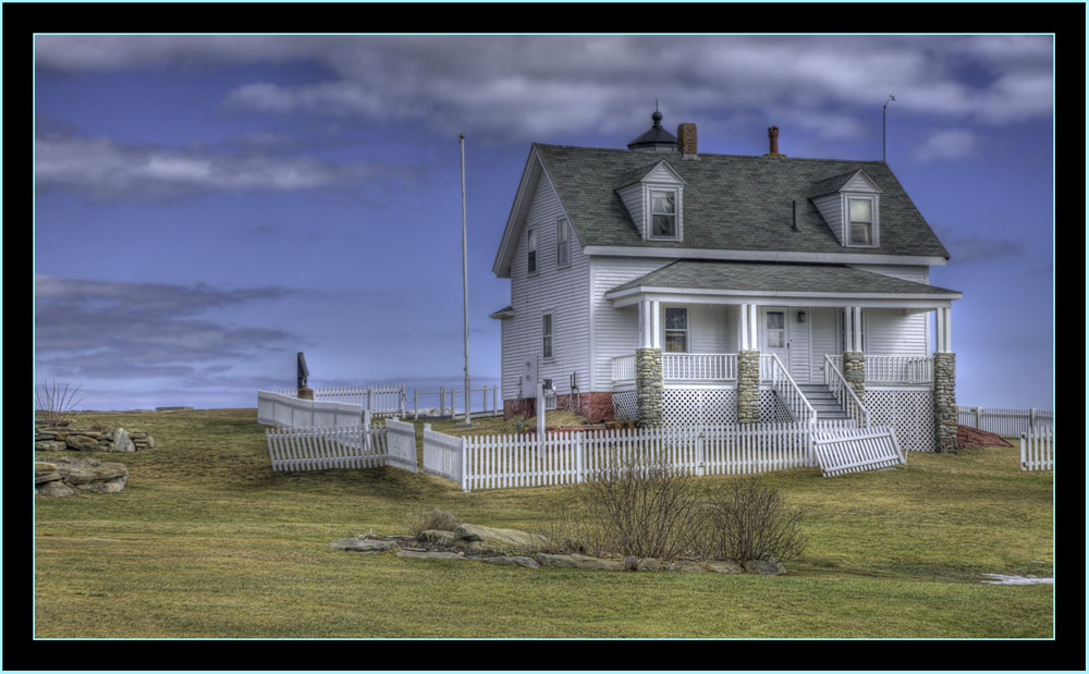 Keeper's House in HDR - Pemaquid Point - Bristol, Maine