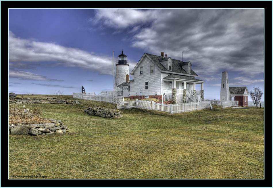 HDR View of the Keeper's House and Grounds - Pemaquid Point - Bristol, Maine