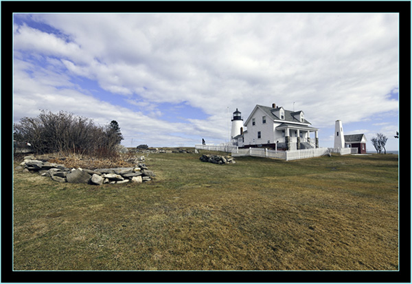 View of the Keeper's House and Grounds - Pemaquid Point - Bristol, Maine