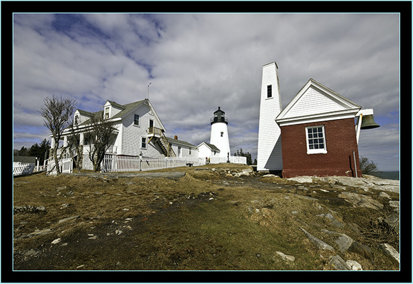 The Light and Buildings - Pemaquid Point - Bristol, Maine