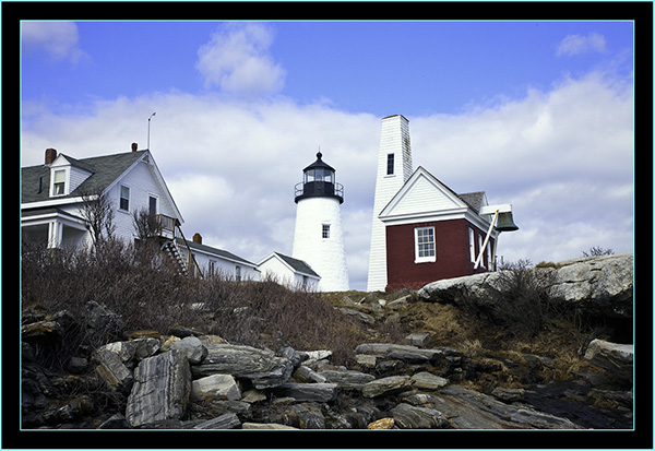 Light, Ledge and Buildings - Pemaquid Point - Bristol, Maine