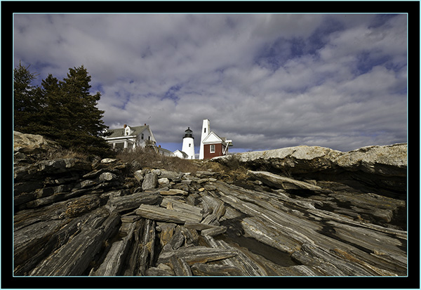 View from the Ledge Looking South - Pemaquid Point - Bristol, Maine