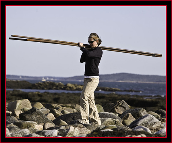 Janice Huebner Carrying in the Fencing - Petit Manan Island - Maine Coastal Islands National Wildlife Refuge