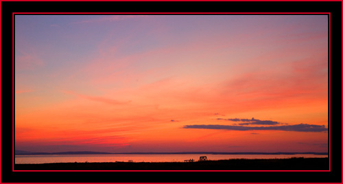 Post Sunset Sky Color from Petit Manan Island - Maine Coastal Islands National Wildlife Refuge