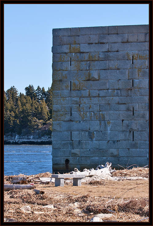 View at Fort Popham - Phippsburg, Maine