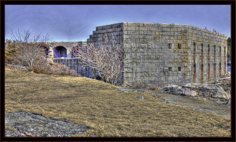 View from the Side, Fort Popham  - Phippsburg, Maine