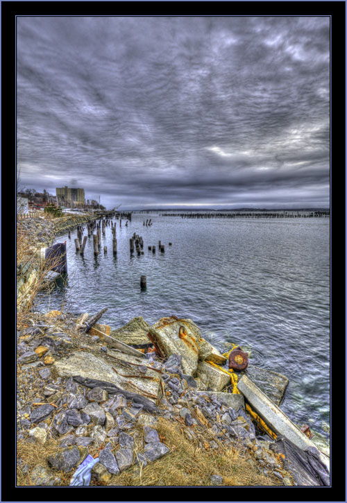 HDR View on the Water - Portland, Maine