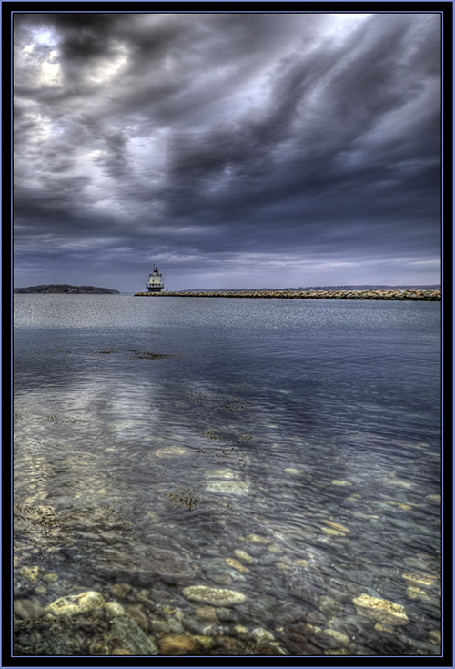 HDR View of Spring Point Ledge Light - South Portland, Maine