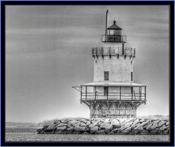 HDR View of Spring Point Ledge Light & Jetty- South Portland, Maine