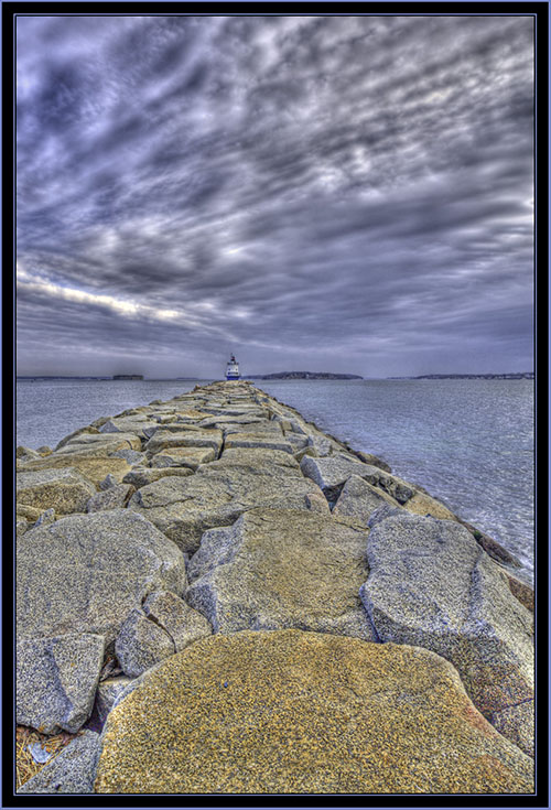 HDR View from the Jetty, South Portland, Maine