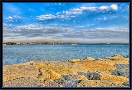 HDR View from Spring Point- South Portland, Maine