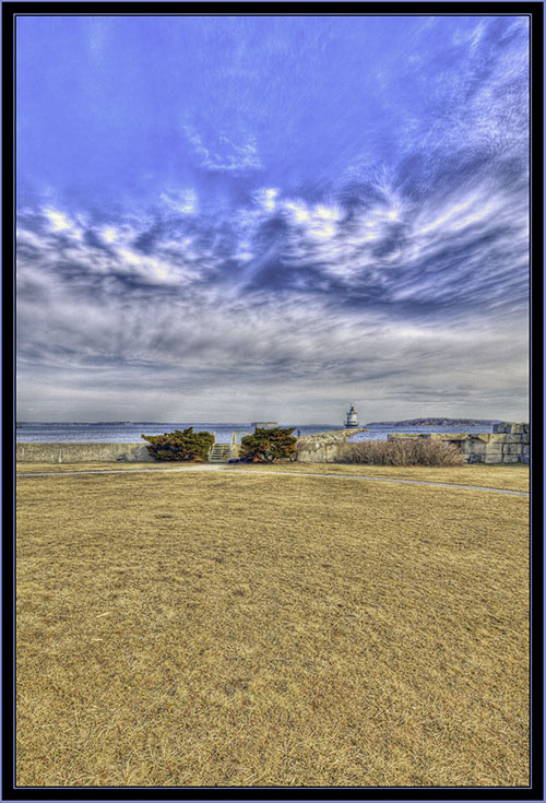 HDR View from the Parade Ground - South Portland, Maine