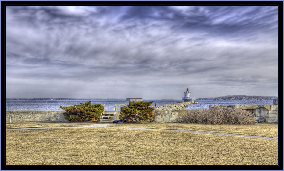 Spring Point Ledge Light, the Jetty and Fort Gorges - South Portland, Maine