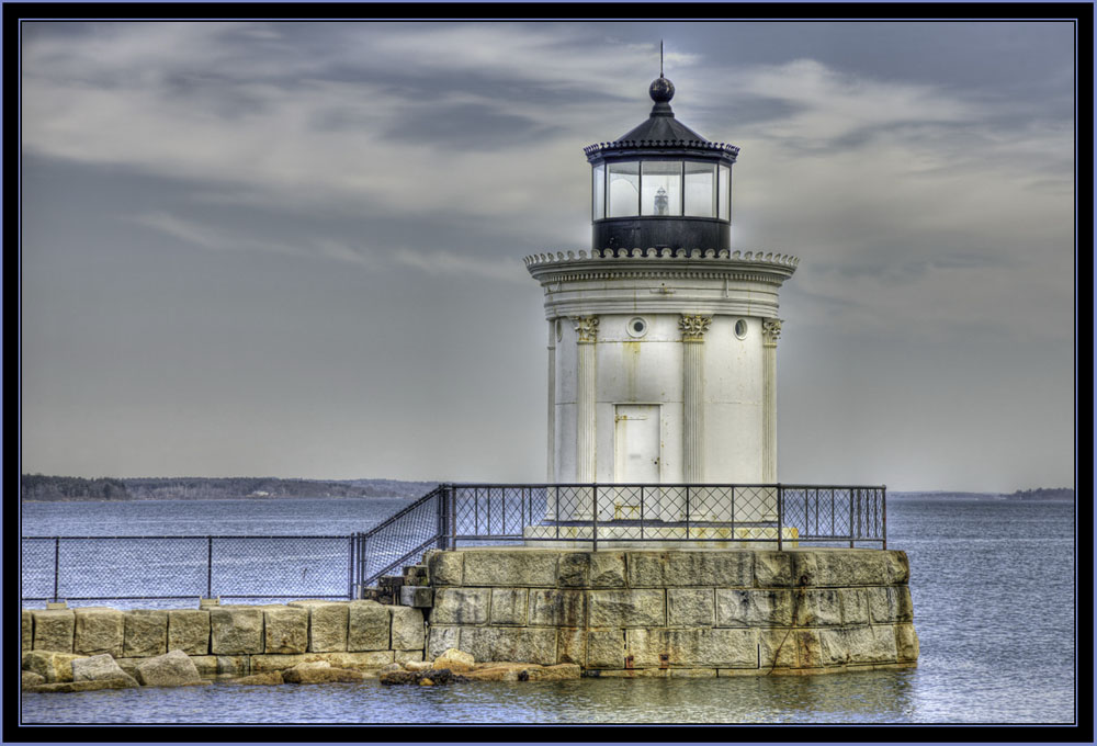 HDR View of Portland Breakwater Lighthouse - South Portland, Maine