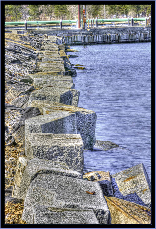 Sea Wall at Spring Point in HDR- South Portland, Maine
