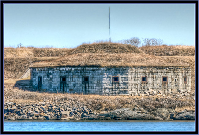 Fort Scammell Battery from Spring Point  - South Portland, Maine