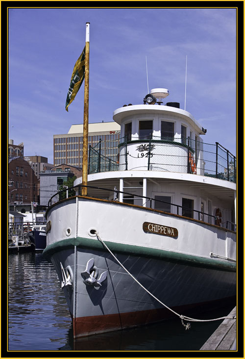 The Chippewa, Berthed in Portland Harbor