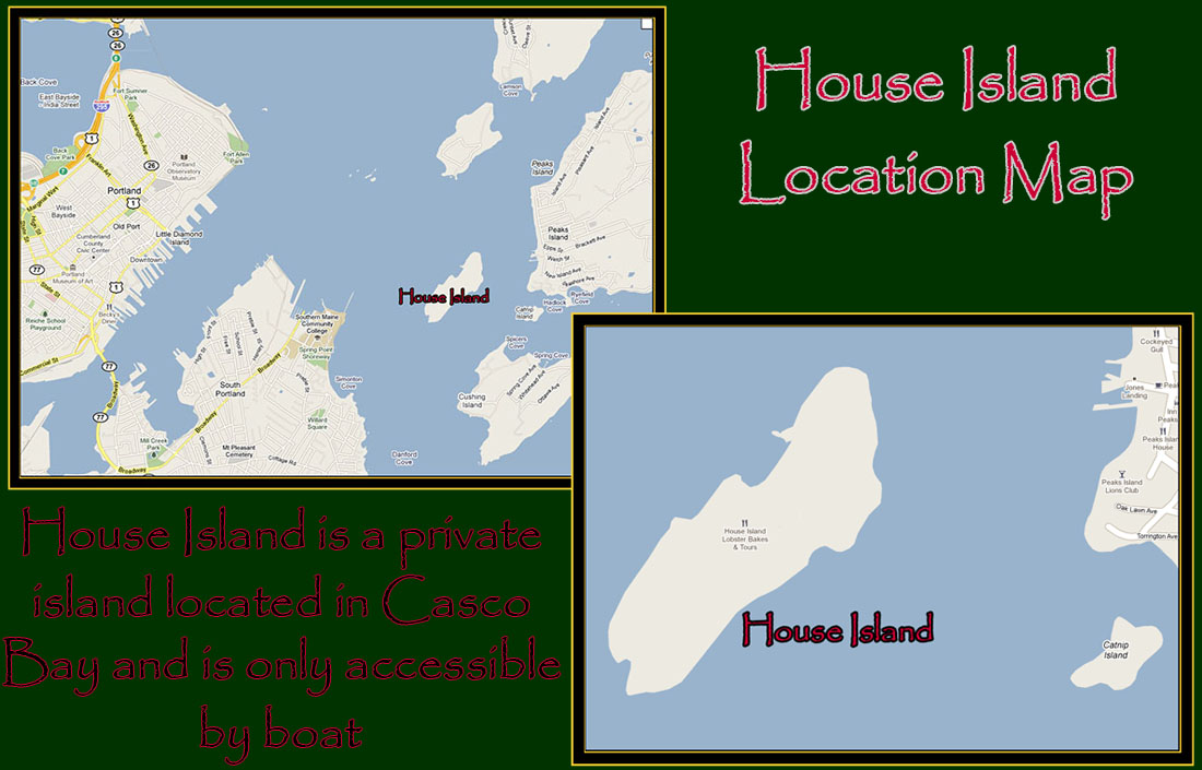 House Island Location Map