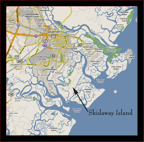 Skidaway Island location map