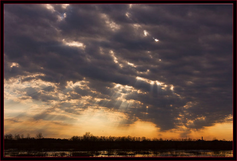 Early Evening Sky & Sunrays