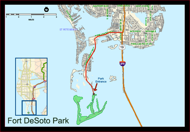 Fort DeSoto Park Location Map