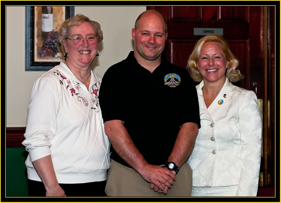 Sharon Eggleston, Brian Ewenson and Senator Scheider - Space Day 2011
