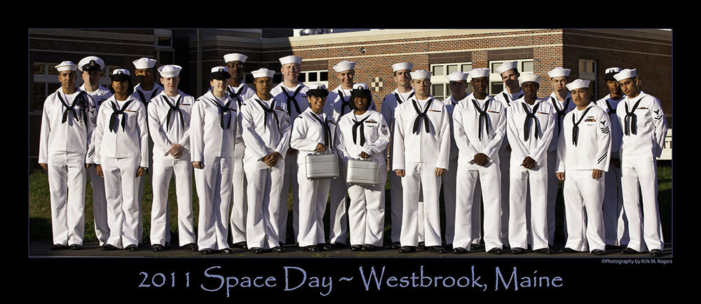 Sailors from the Crew of DDG 111 Spruance - Space Day 2011