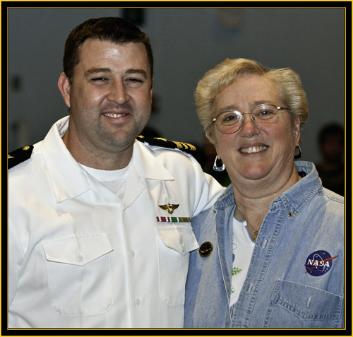 Lieutenant Commander Matthew Schraeder and Sharon Eggleston - Space Day 2011