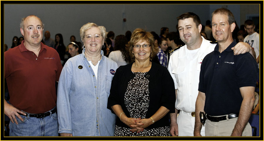RicK LaPointe, Sharon Eggleston, Ann LePage, LCDR Matthew Schraeder and Tim Kienstra - Space Day 2011