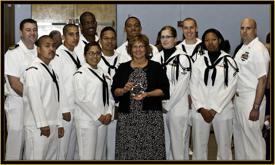 Mrs. LePage and Spruance Sailors - Space Day 2011