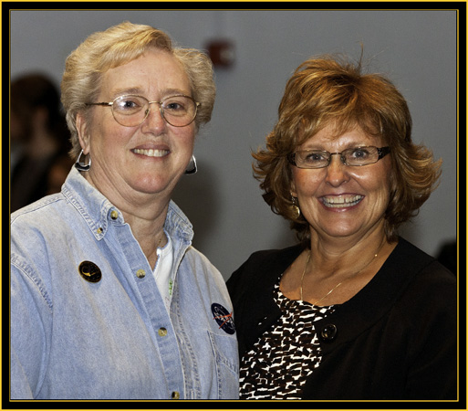 Sharon Eggleston and Ann LePage - Space Day 2011