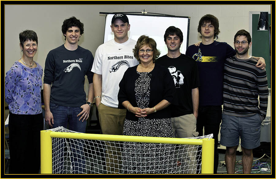 Anita Bernhardt, Ann LePage and the Bowdoin College RoboCup Squad - Space Day 2011