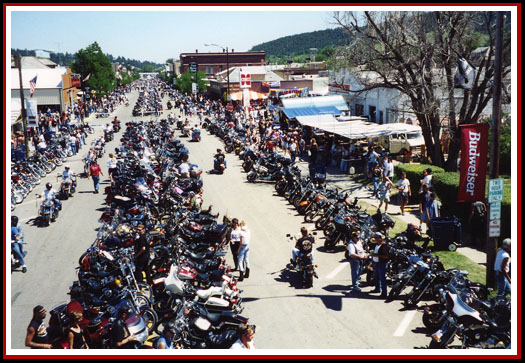 Downtown Sturgis During the Rally