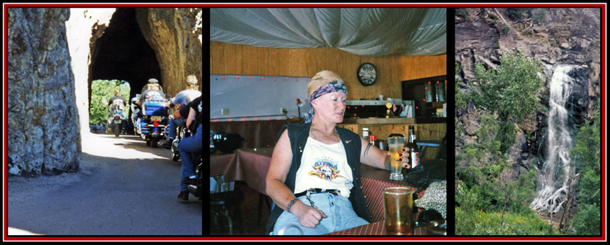 Needles Highway; Sonya having a Beer; Custer National Forest