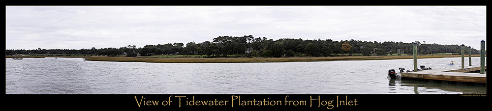 View of Tidewater Plantation from Hog Inlet ~ No. Myrtle Beach, South Carolina